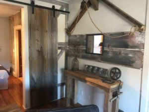 Reclaimed barn wood Fever River View Suites